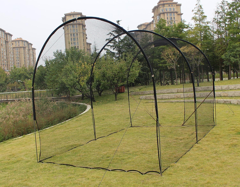 Galileo Baseball Cage Batting Cage Net Softball Hitting Cage Nets Backstop Training Equipment Heavy Duty Netting for Pitching Pitchers