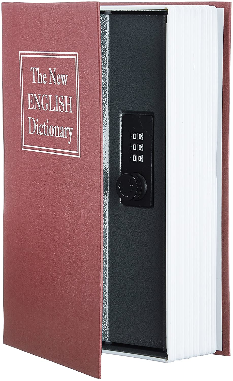Buchtresor Kleiner Safe in Buch Optik Geldkassette in Buchattrappe schwarz