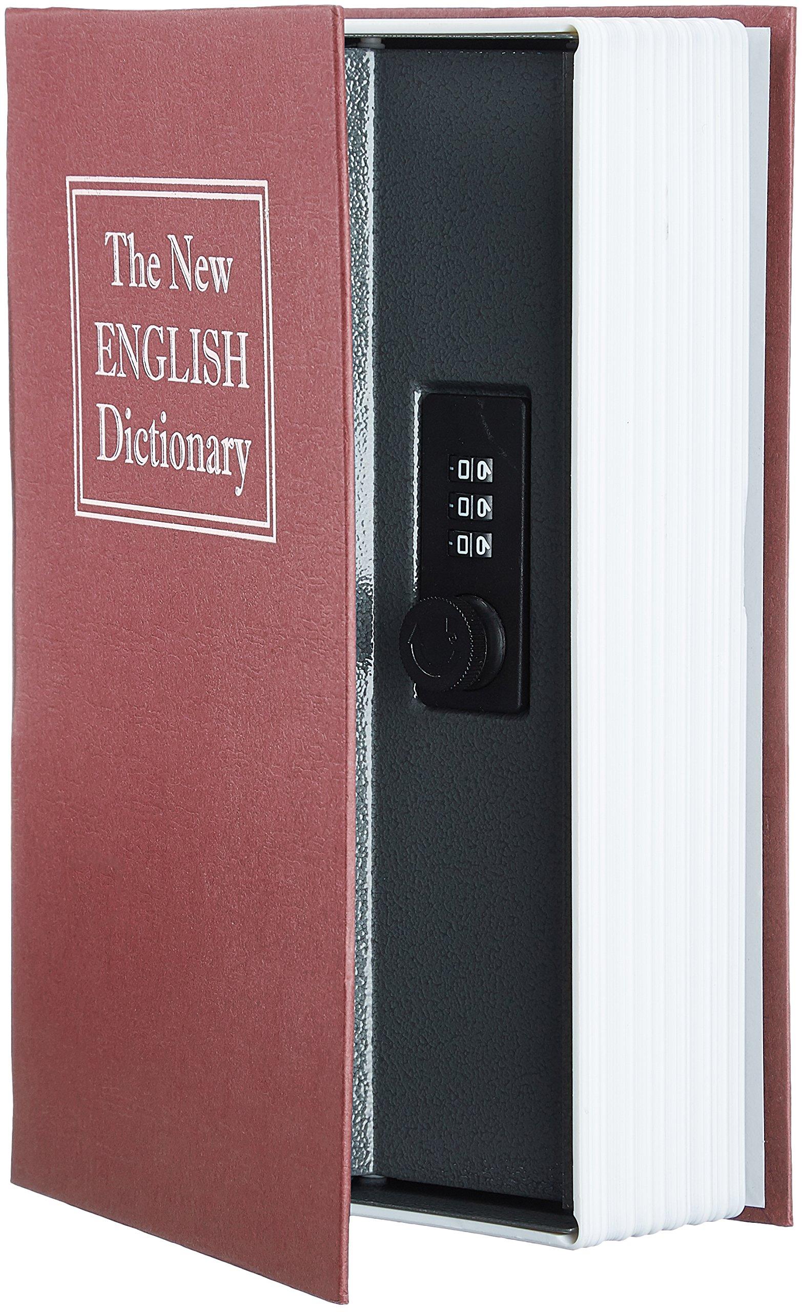 AmazonBasics Book Safe, Combination Lock, Red by AmazonBasics