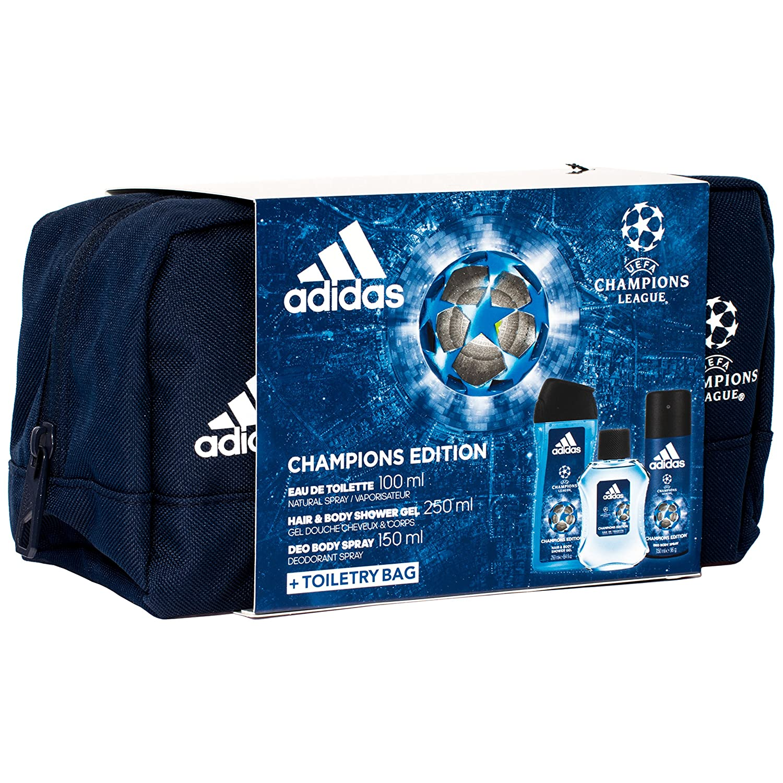 Adidas Champions Edition EDT 100 ml + Shower Gel 250 ml + Deo Spray 150 ml + Neceser Coty GSCGADI324