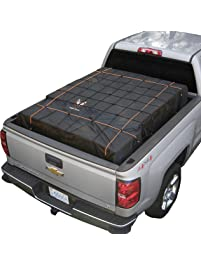 Rightline Gear 100T60 Black Truck Bed Cargo Net with Built-in Tarp