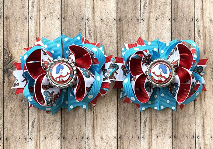 Dr Suess themed bows