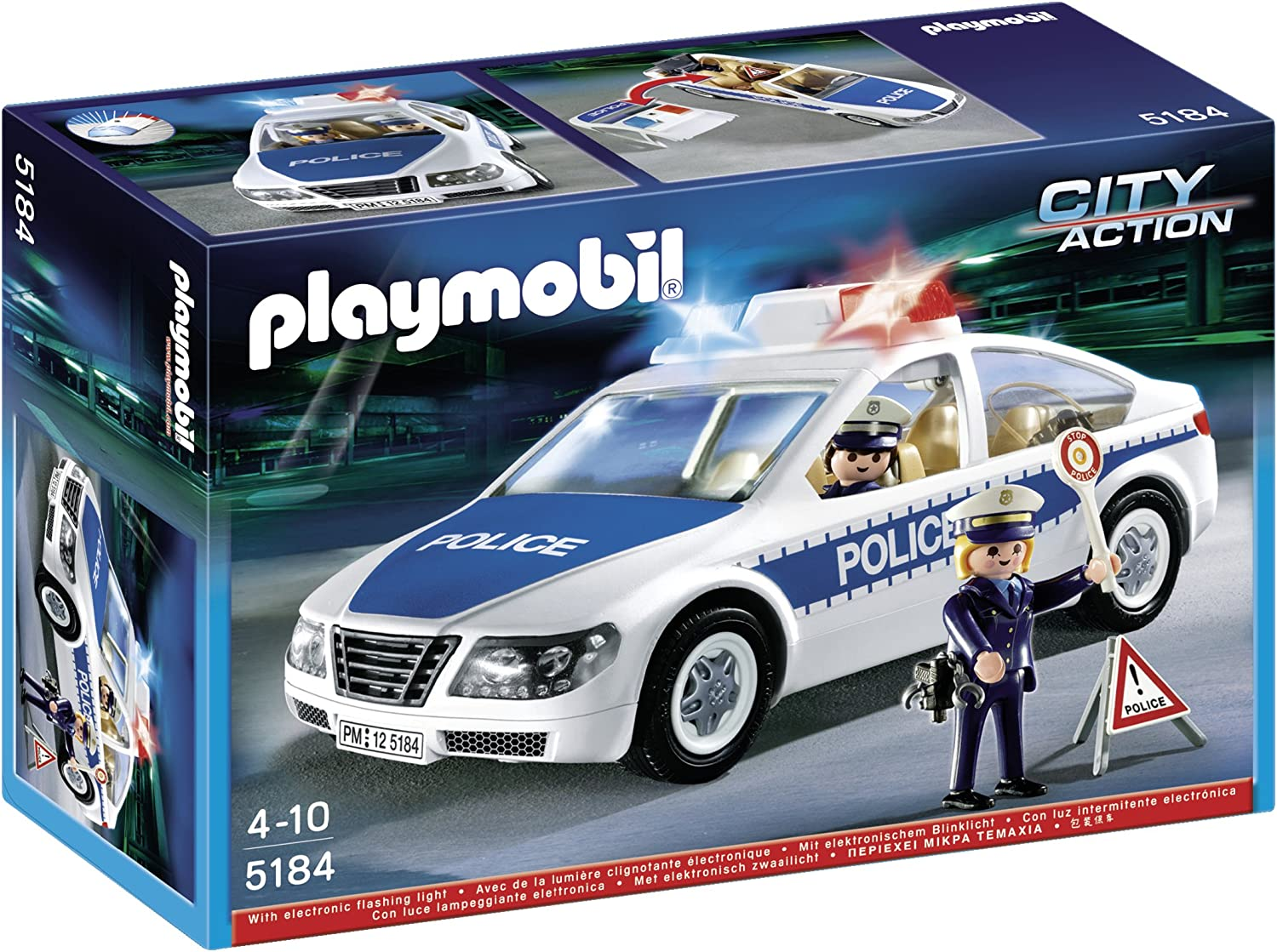 5673 FOR 4+ YEARS POLICE CRUISER PLAYMOBIL CITY ACTION