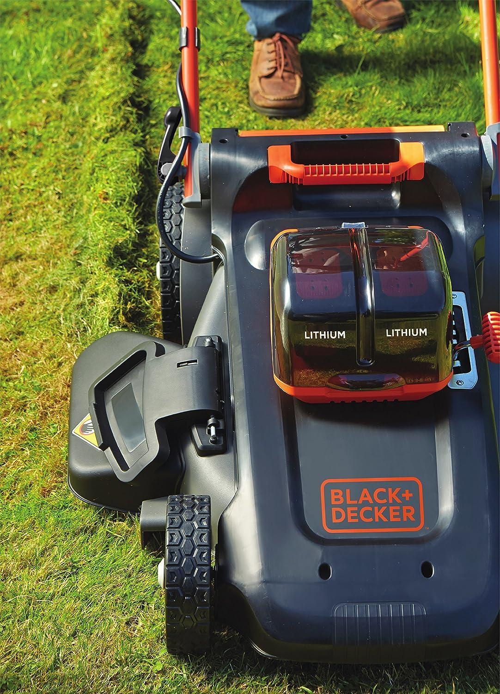 Black+Decker CLM5448PC2-QW Cortacésped Dualvolt Autosense, 3 en 1, Ancho de Corte de 48 cm, Incluye 2 Baterías de Litio 54 V de 2.5 Ah y Cargador, ...