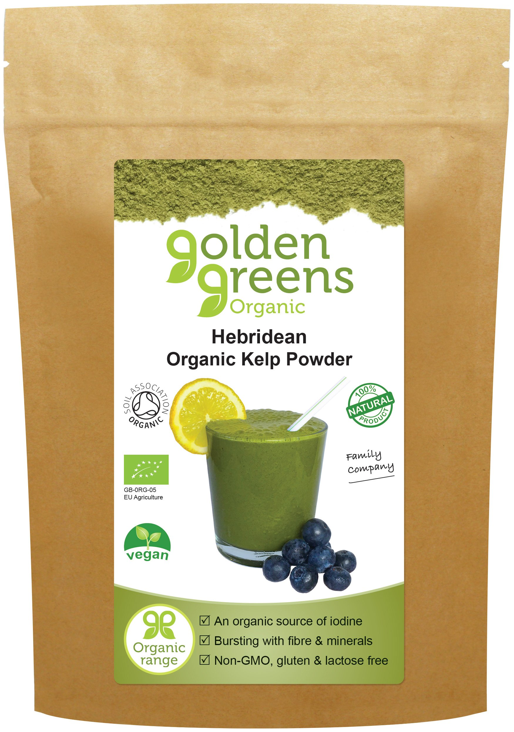 Golden Greens Organic Hebridean Kelp Powder 100g by Golden Greens