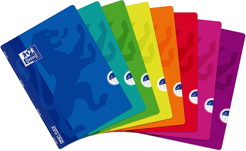 Libretas Oxford Tapa plástico. Pack de 10 Unidades. A4. 48 hojas lisas.