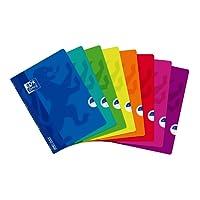 Oxford Openflex Lot de 10 Cahiers 24 x 32 cm 96 Pages Seyès Couverture Polypro Coloris Assortis