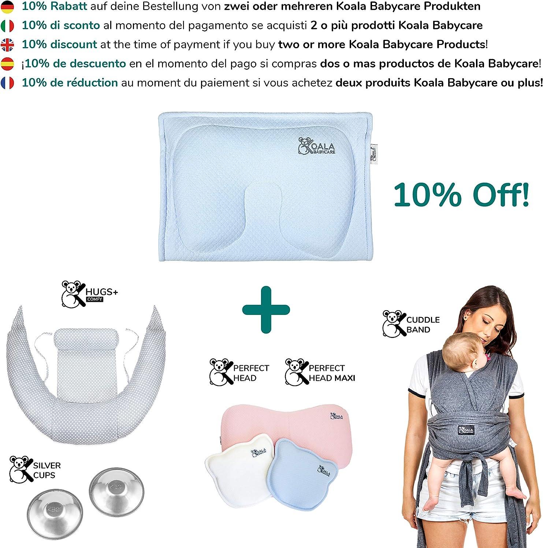 - Koala Perfect Head Breastfeeding Koala Babycare/® Coussin de maternit/é /à m/émoire de forme pour pr/évenir et soigner la Plagioc/éphalie d/éhoussable la t/ête plate avec 2 housses Blanc