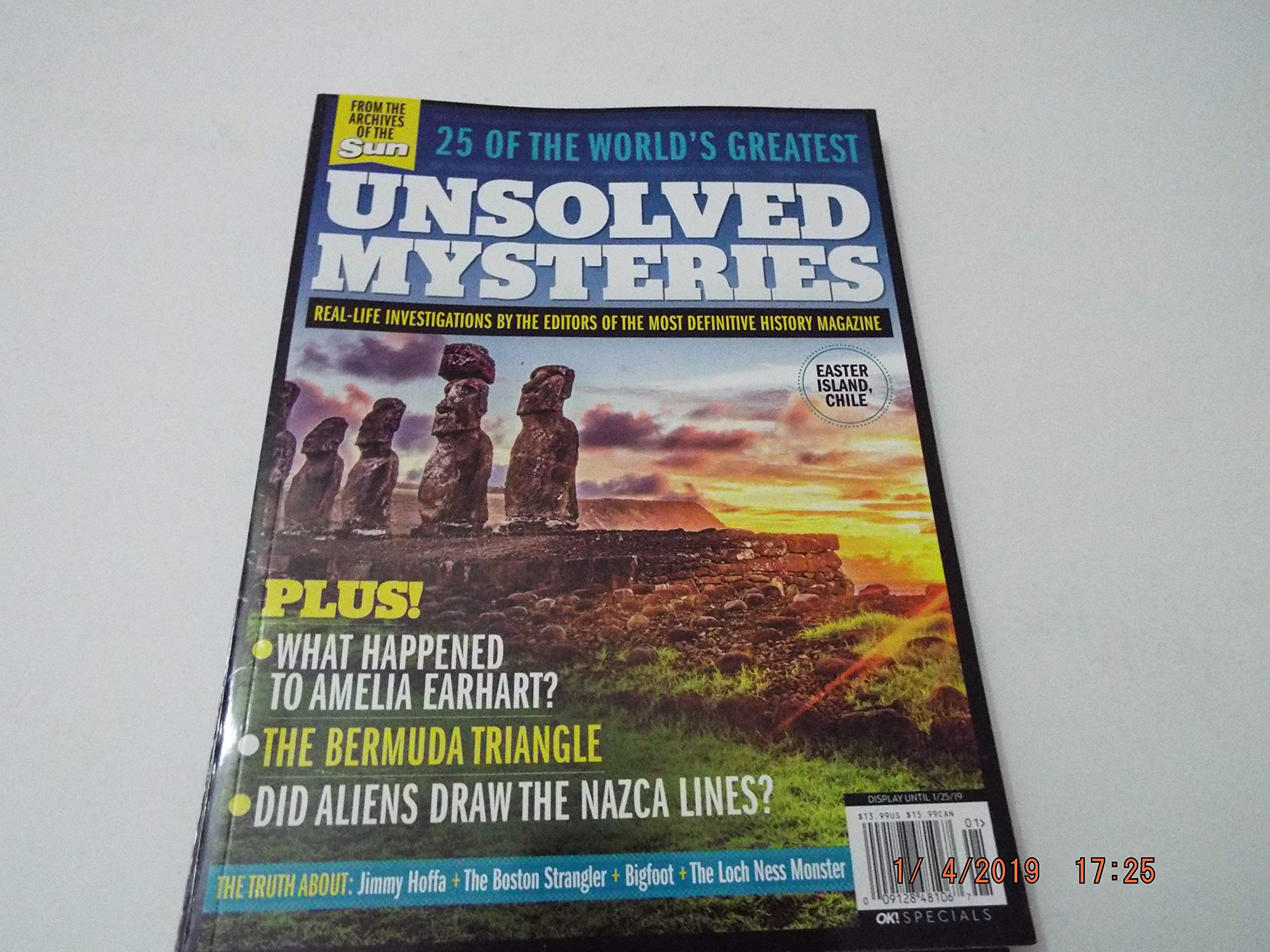 25 of the World's Greatest Unsolved Mysteries Magazine 2018