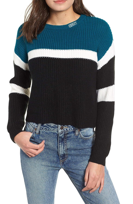 [オベイ] レディース ニット&セーター Obey Allie Colorblock Crewneck Sweater [並行輸入品] B07GLHX4HT X-Small