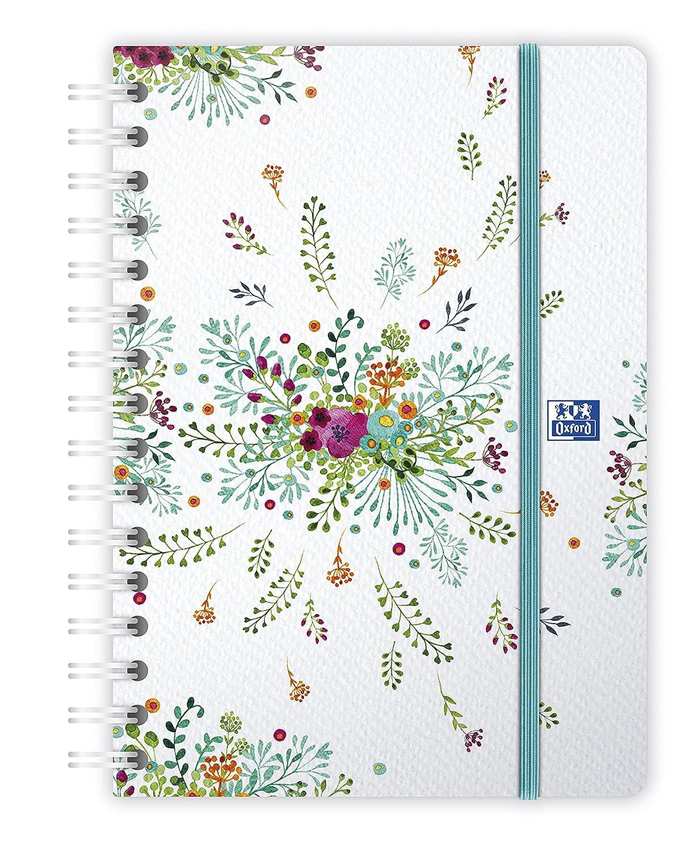 Oxford 100735831 Flowers Agenda Civil Semainier spiralé Année 2019 15 x 21 cm Fuchsia Hamelin
