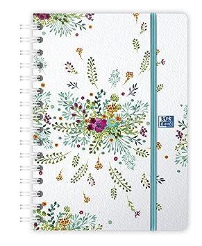 Oxford, 1 agenda semanal Flowers - Encuadernación rizado ...