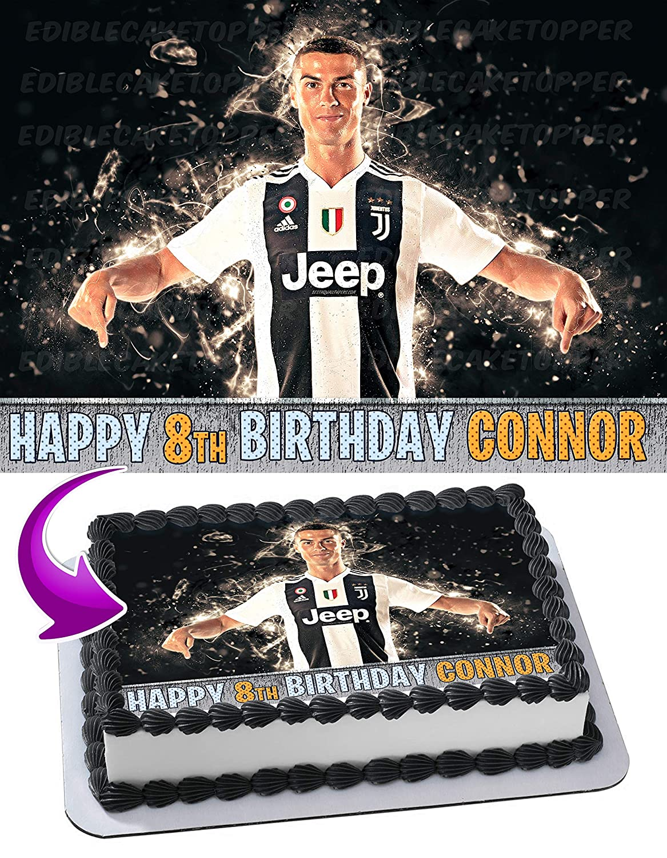 Cristiano Ronaldo Cr7 Juventus Cake Topper Edible Image Personalized