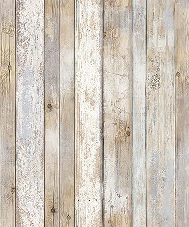 Reclaimed Wood Distressed Wood Panel Wood Grain Self Adhesive Peel Stick Wallpaper Vbs308