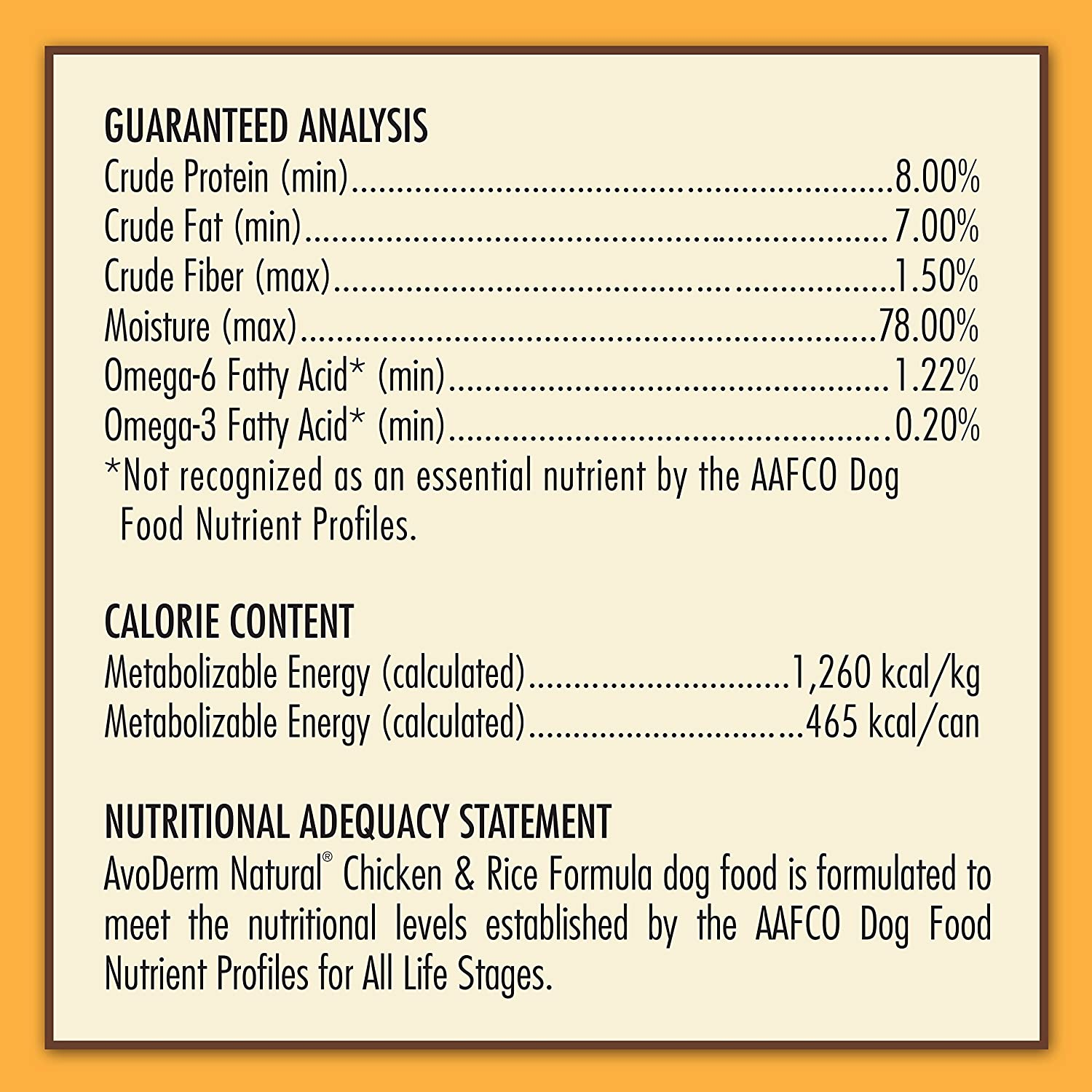 Avoderm Natural Chicken Meal And Brown Rice Formula Adult Dog Food
