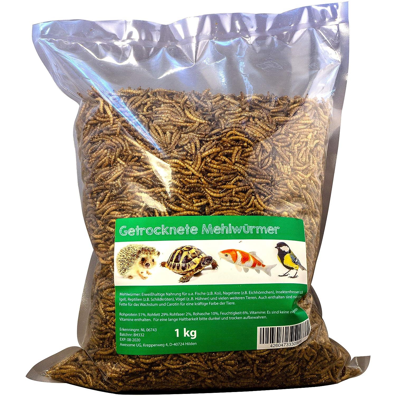 Svänimal 1KG Getrocknete Mehlwürmer, Futter für Insekten, Vögel, Reptilien, Kleintiere, Leckerli, Proteinfutter Futter für Insekten Vögel awesome ug