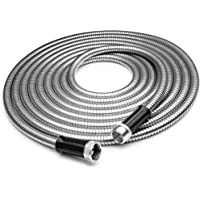 Tiabo Metal Garden Hose 304 Stainless Steel Super Flexible Cool to The Touch All Weather Hose