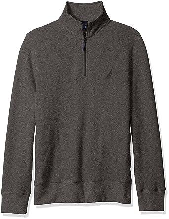 732be1ef8 Nautica Men's Quarter-Zip Pullover at Amazon Men's Clothing store: