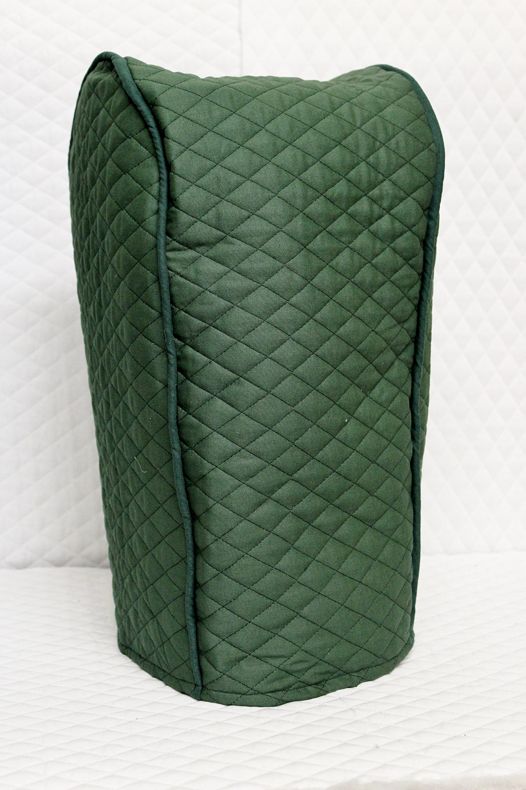 Ninja blender cover - Quilted Double Faced Cotton, Hunter Green
