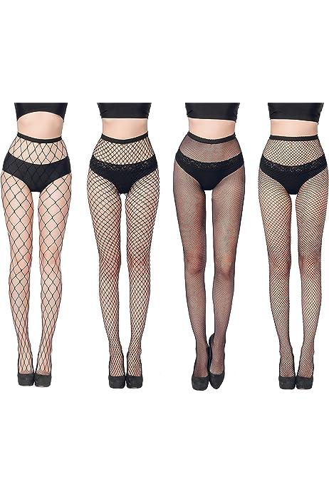 1 pair Wide Diamond Net Fishnet Spandex Pantyhose Neon Punk Goth Tights,Red B3T4