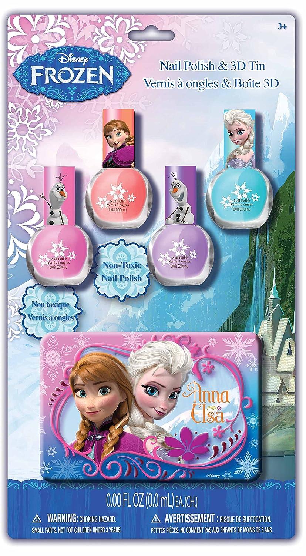 Disney Frozen Nagellack Set mit 3D Blechdose Elsa Anna Eiskönigin ...