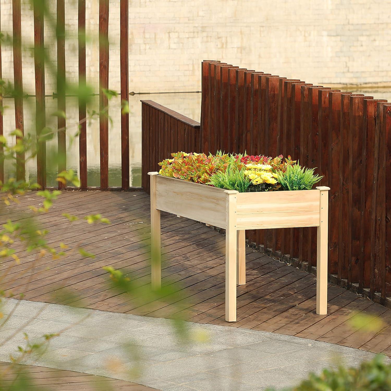 "PHI VILLA Raised Garden Bed Elevated Planter Box for Vegetable/Flower/Fruit/Herb (48"" x 22.5"" x 30"")"