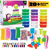 DIY Slime Making Kit - Perfect Arts and Crafts for Girls & Boys - Best Slime Kit for Glow in The Dark Slime w Slime…