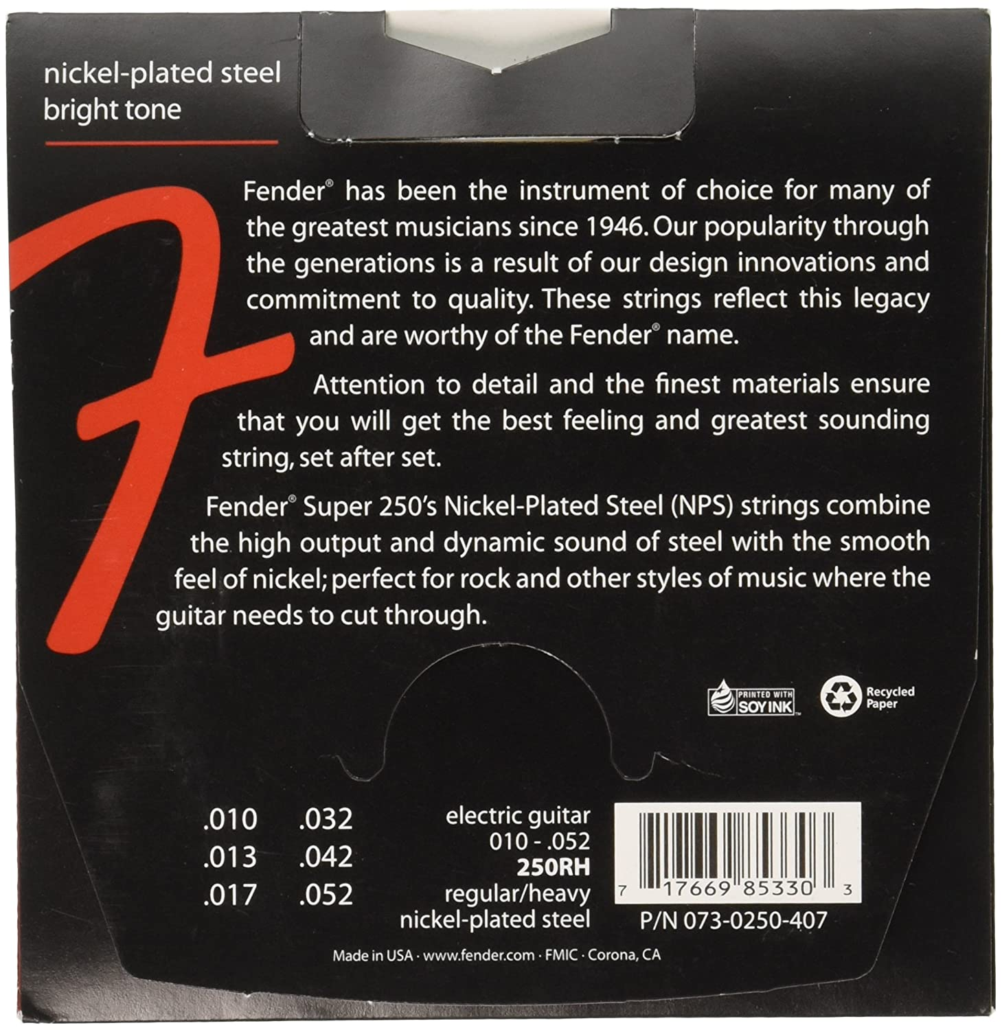Fender Super 250s Nickel Plated Steel Strings 3 Pack The Guitar Wiring Blog Diagrams And Tips Gibson Les Musical Instruments