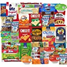 Blue Ribbon Care Package 45 Count Ultimate Sampler Mixed Bars, Cookies, Chips, Candy Snacks Box for Office, Meetings, Schools,Friends & Family, Military,College, Halloween, Fun Variety Pack