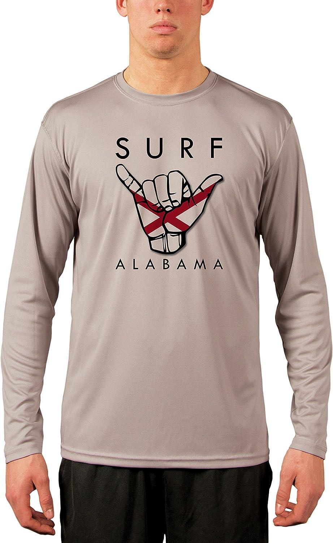 Vapor Apparel Surf Alabama Mens UPF 50 Performance T-Shirt Athletic Grey