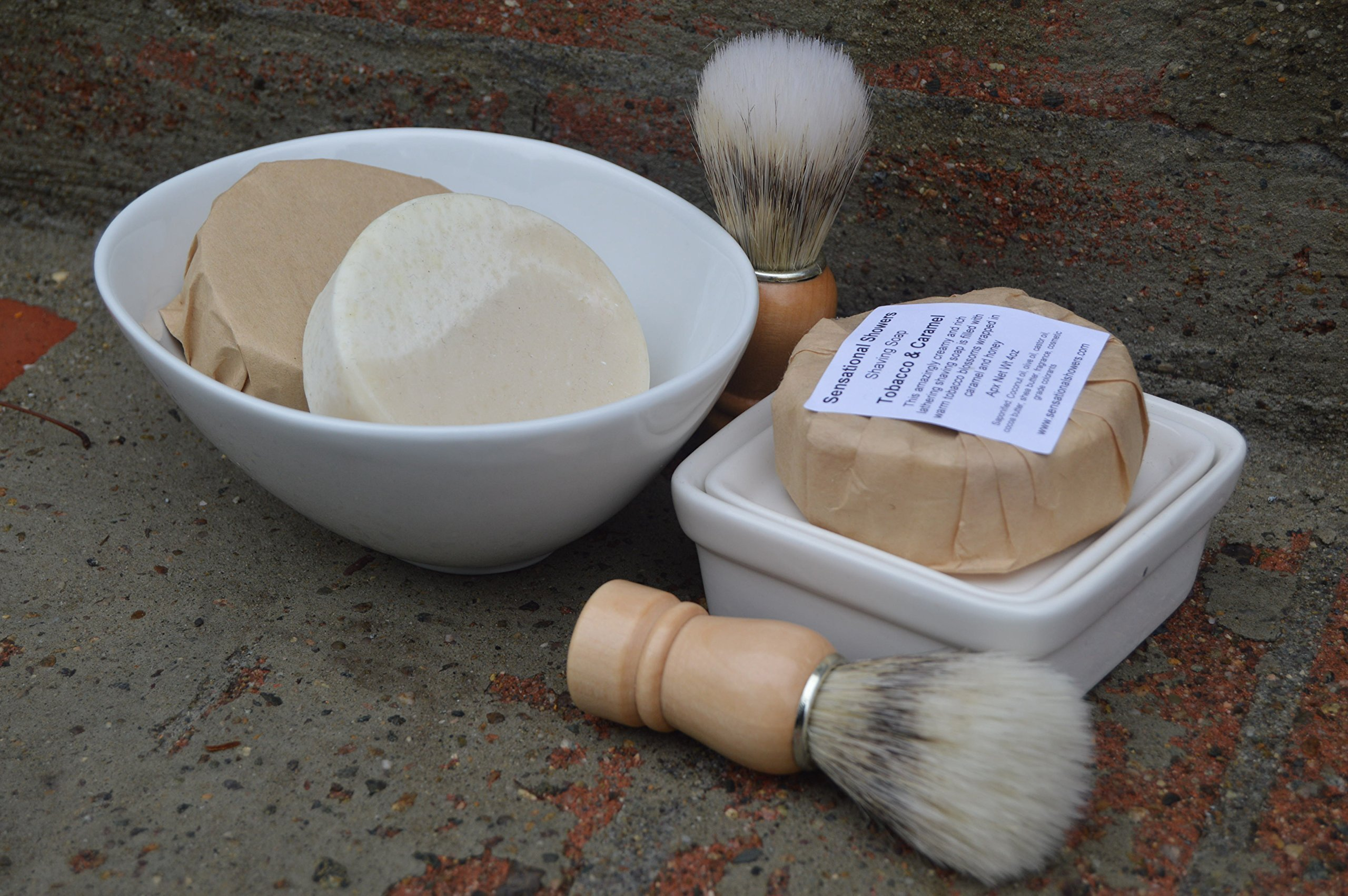 Tobacco and Caramel Shaving Soap