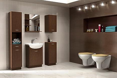 Set Da Bagno Moderno : Moderno set di mobili da bagno lara wengué amazon casa e cucina