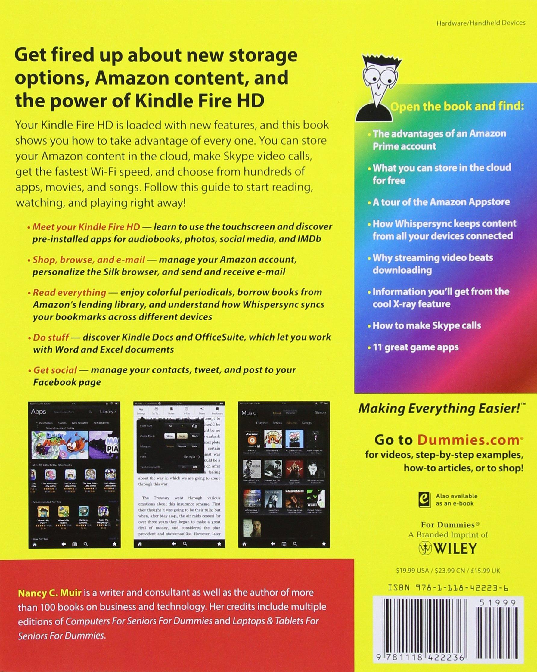 Kindle Fire Hd for Dummies: Amazon.co.uk: Nancy C. Muir: 9781118530757:  Books