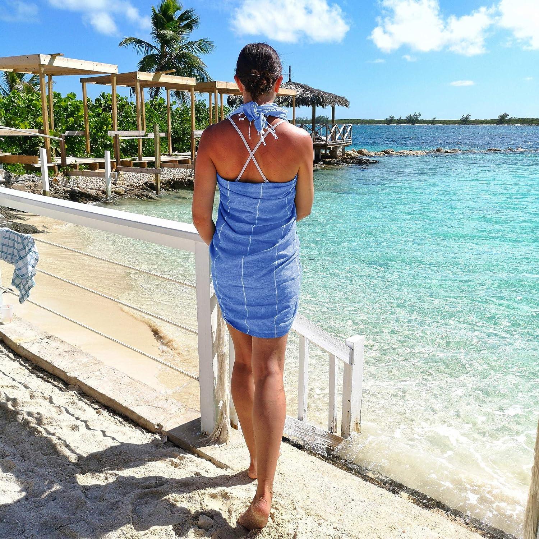 Coton pour sauna Pestemal//serviette de sauna//hammam//plage avec franges plage Pestemal 100x180cm jardin ou comme couvre-lit toile fine et absorbante en pur coton T/ürkis