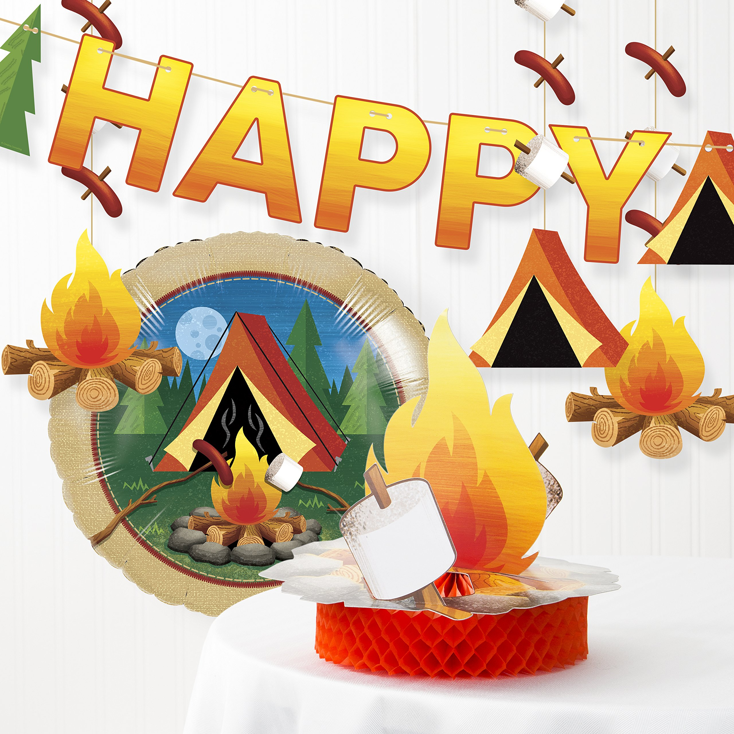 Creative Converting Camping Party Decorations Kit