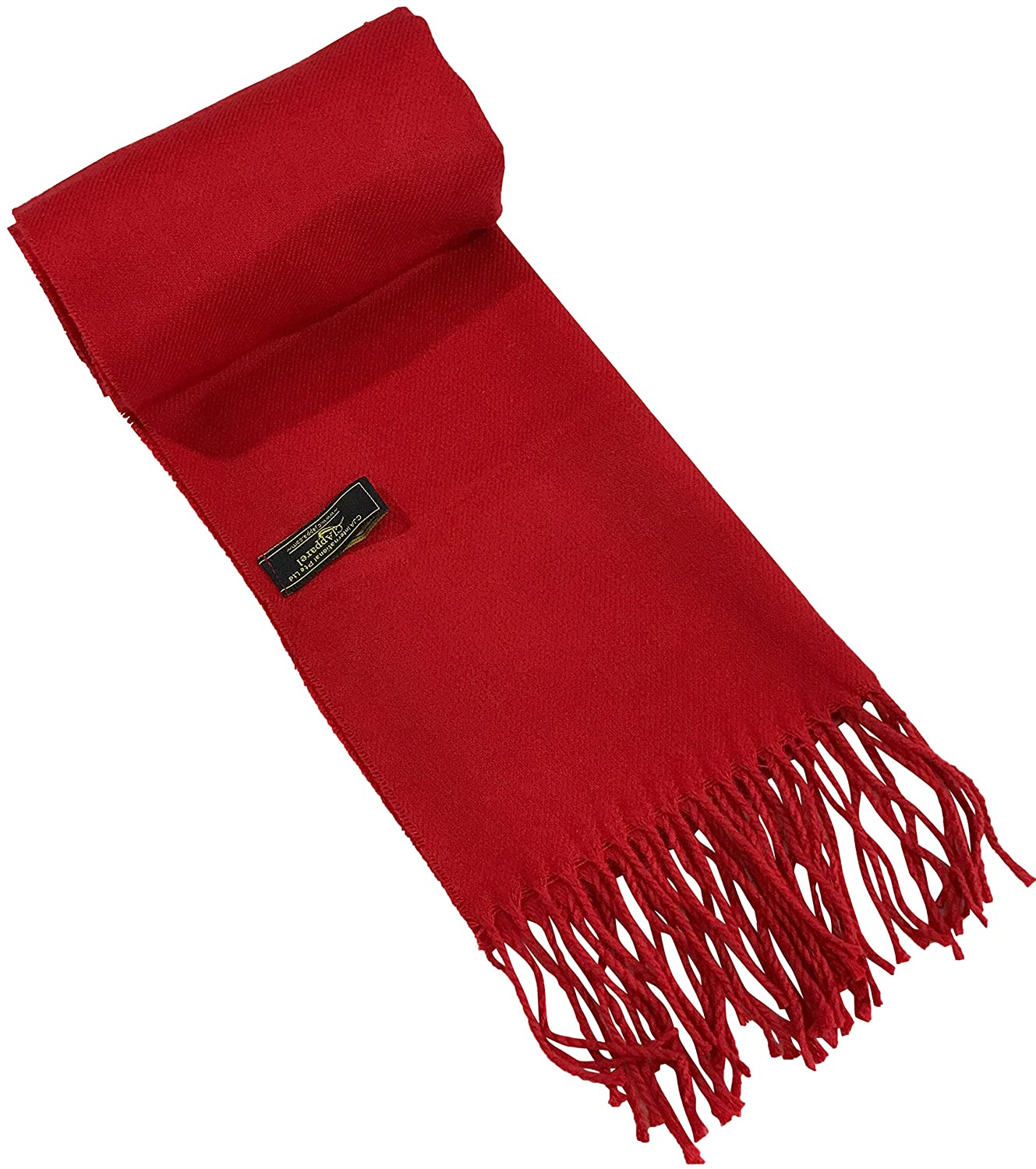 CJ Apparel Red Mens Solid Colour Design Fashion Knitted Scarf Seconds Scarves Fall//Winter Wrap NEW