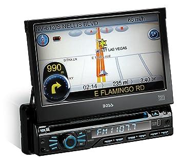 amazon com boss audio bv9980nv single din 7 inch motorized boss audio bv9980nv single din 7 inch motorized touchscreen dvd player receiver gps navigation