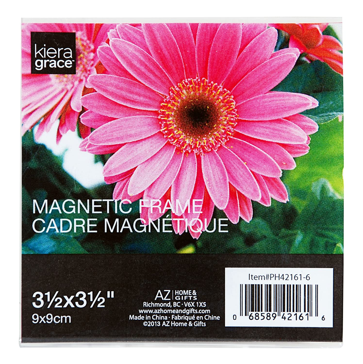 Kiera Grace Magnetic Picture Frame with Square Frosted Edge, 3.5 x 3.5 Inch, Clear AZ Home and Gifts PH42161-6