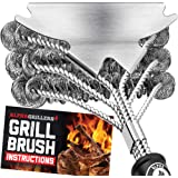 Alpha Grillers Grill Brush Bristle Free. Best Safe BBQ Cleaner with Extra Wide Scraper. Perfect 17 Inch Stainless Steel…