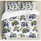 Amazon.com: Monster Trucks Boys Full Comforter Set (8 ...