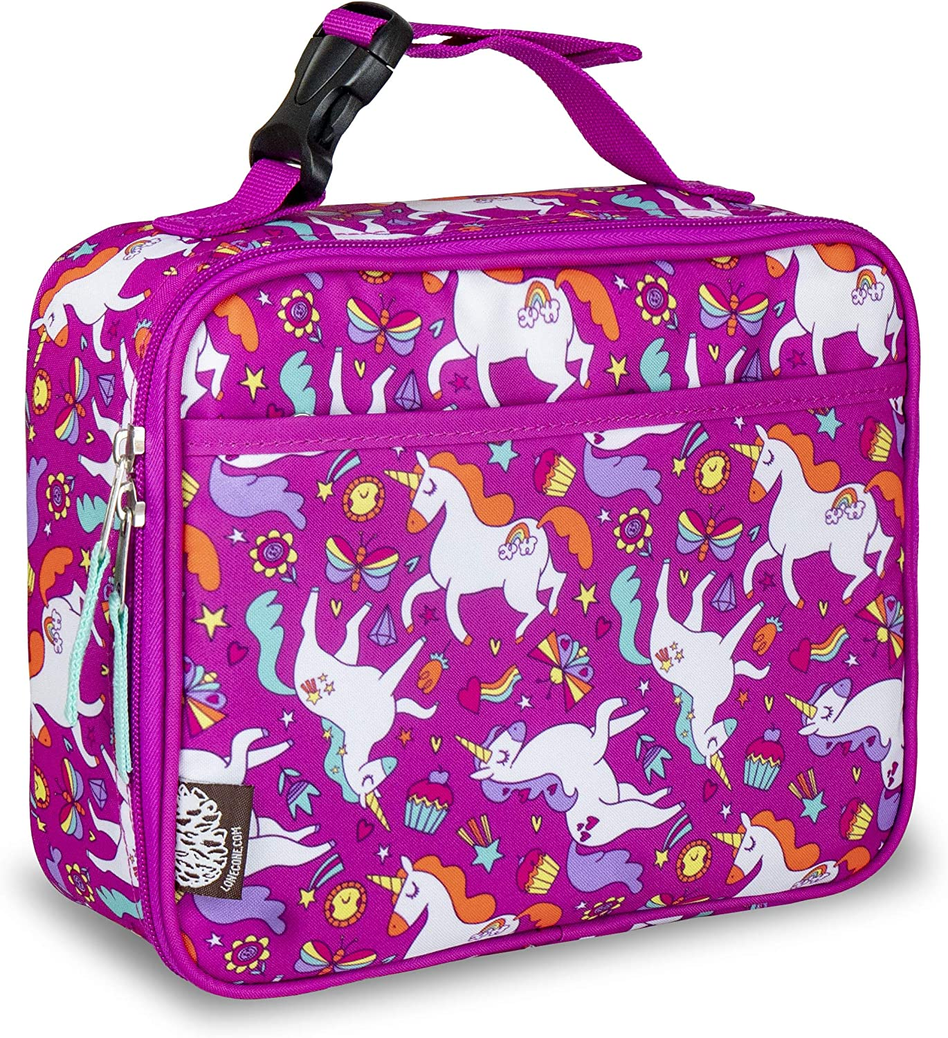 LONECONE Kids' Insulated Lunch Box - Cute Patterns for Boys and Girls, Mary the Unicorn, Standard