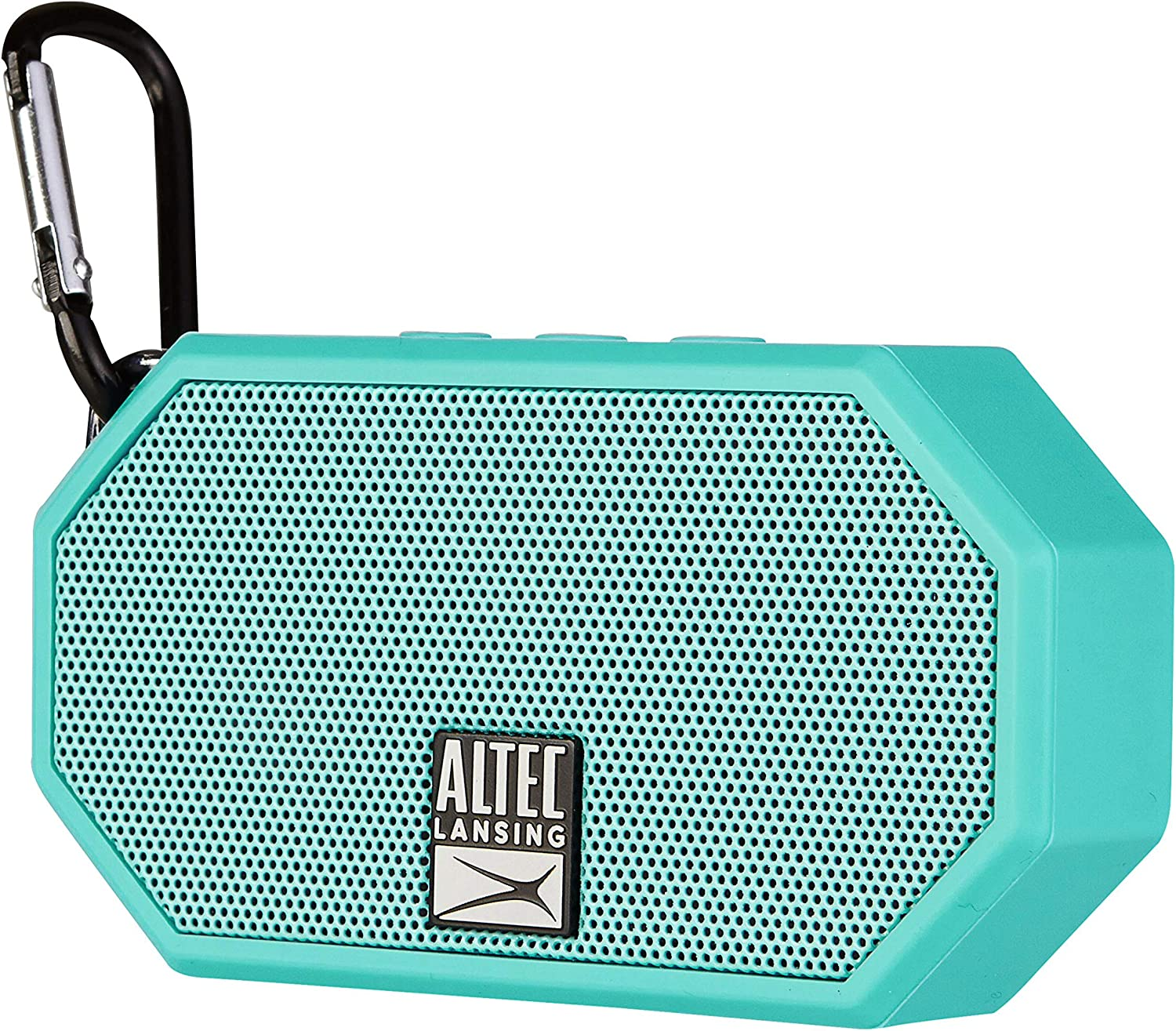 Altec Lansing Mini H2O - Wireless, Bluetooth, Waterproof Speaker, Floating, IP67, Portable Speaker, Strong Bass, Rich Stereo System, Microphone, 30 ft Range, Lightweight, 6-Hour Battery, (Teal)