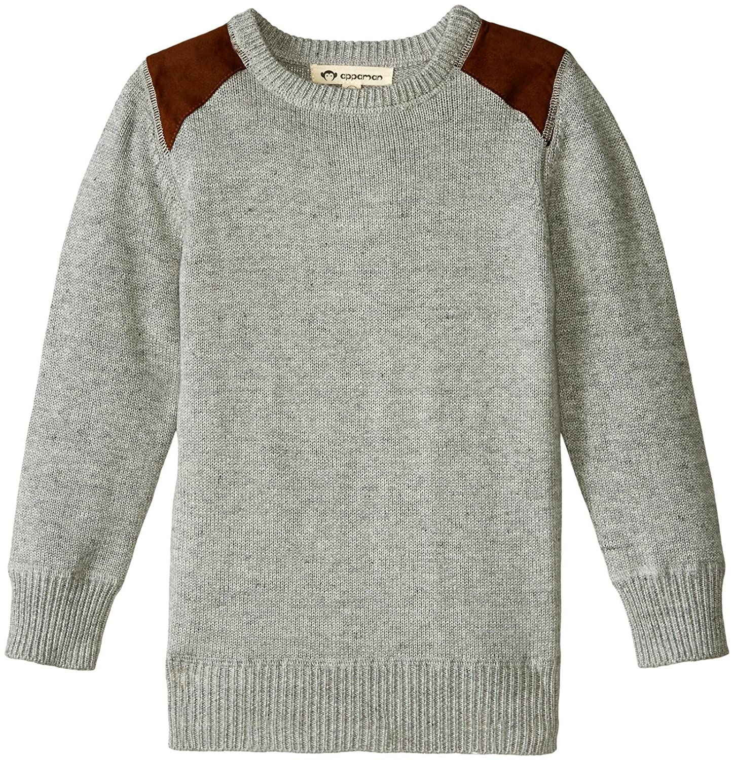 Polo Assn U.S Mens Stretch Jersey Sweater W//Faux Suede