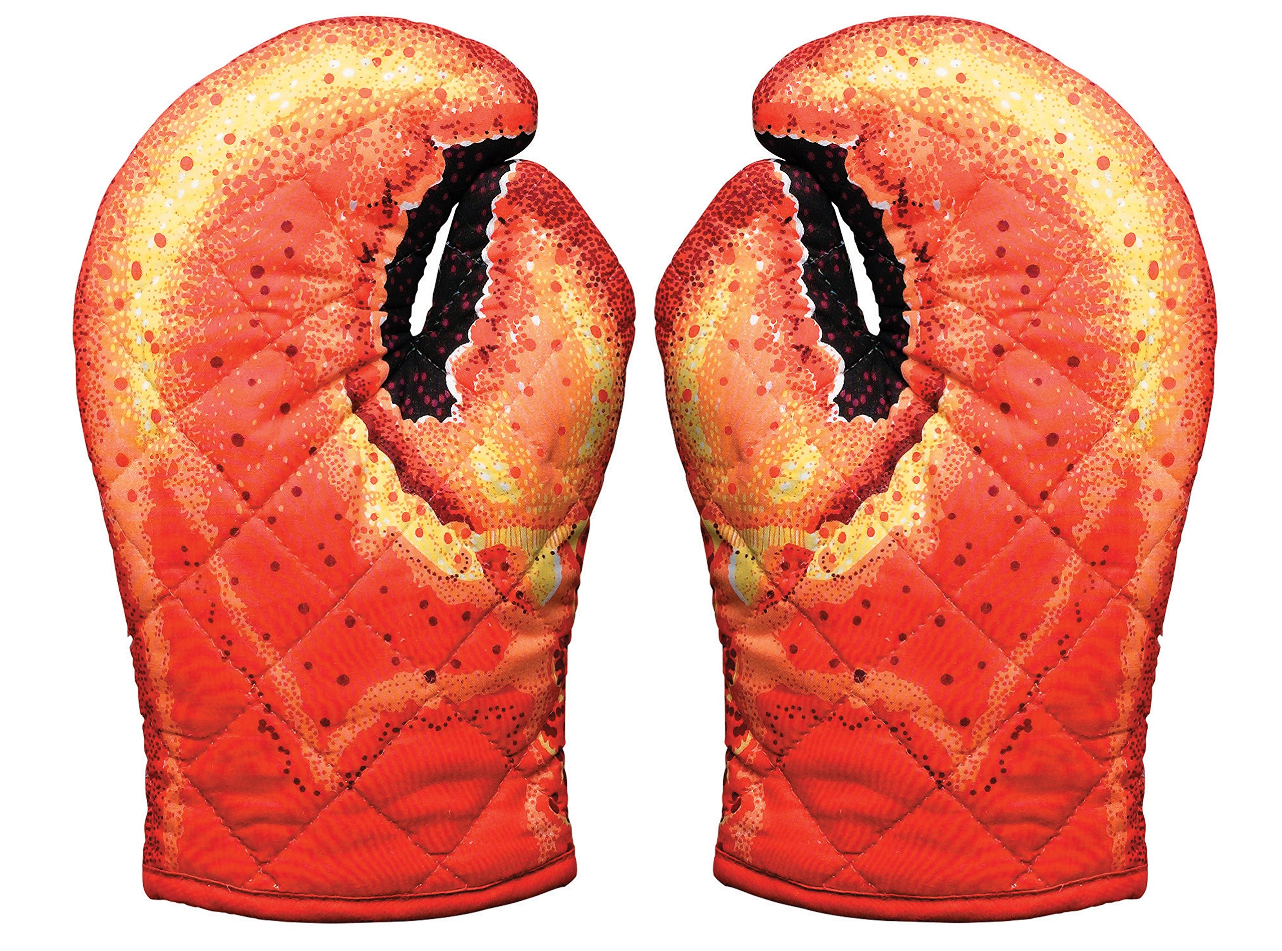 Lobster Claw Oven Mitts, Set of 2, Quilted Cotton, Designed for Light Duty Use, by Boston Warehouse by Boston Warehouse