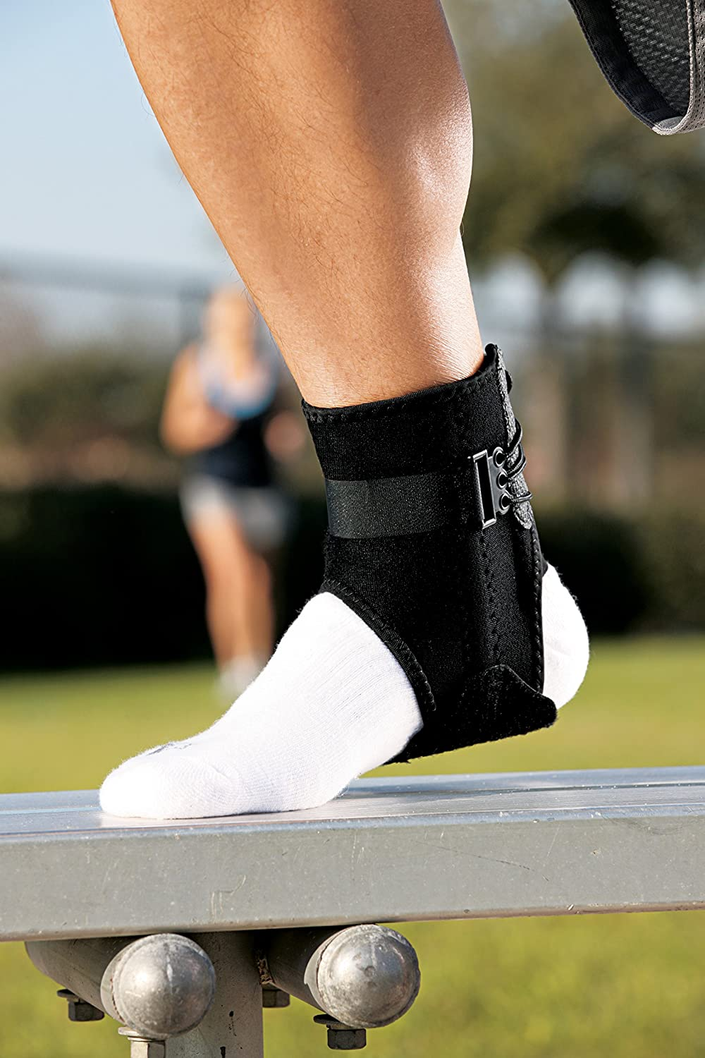 Americas Most Trusted Brand of Braces and Supports ACE Brand Ankle Brace with Side Stabilizers Money Back Satisfaction Guarantee
