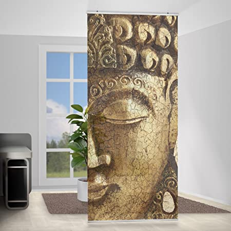 Design Room Divider Panel Curtain in Vintage Buddha Amazoncouk
