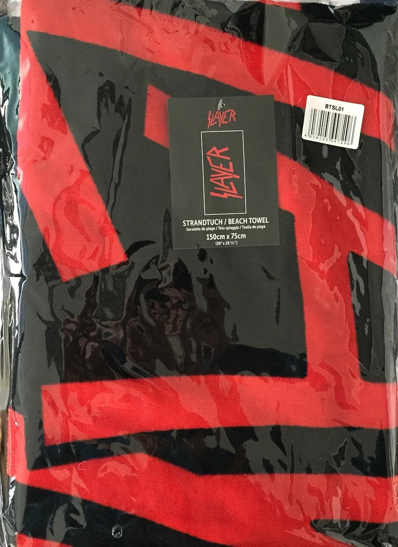 150/x 75/x cm Multicolore Slayer btsl01/Drap de Plage Coton