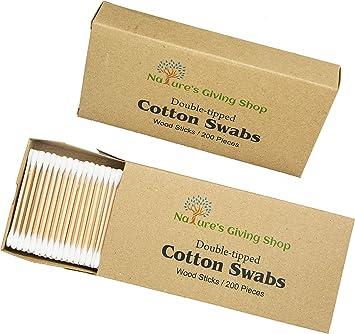 Hisopos de algodón de madera, con doble punta, hisopo de ...