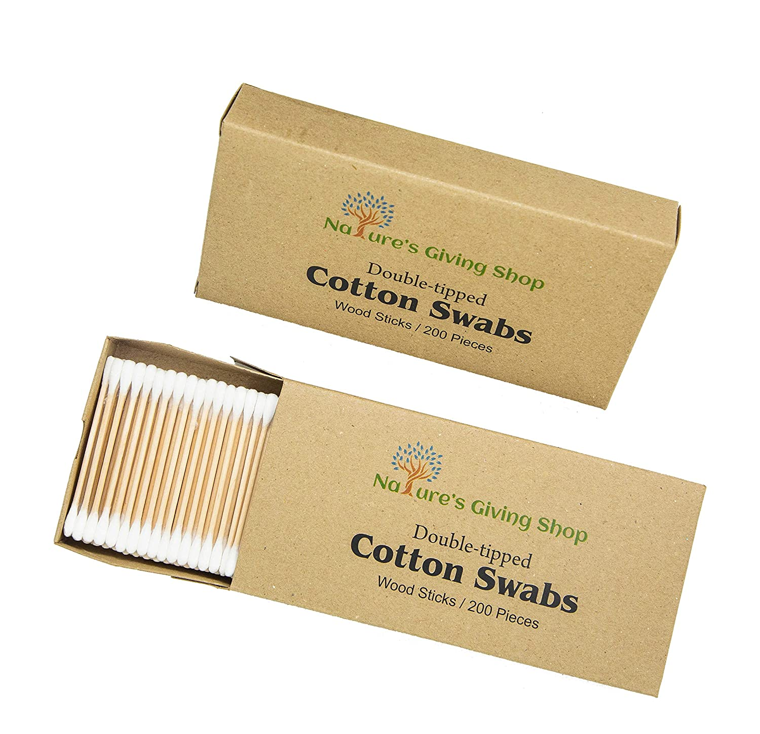 Amazoncom Double Tipped Wooden Cotton Swabsq Tips 400 Count 2