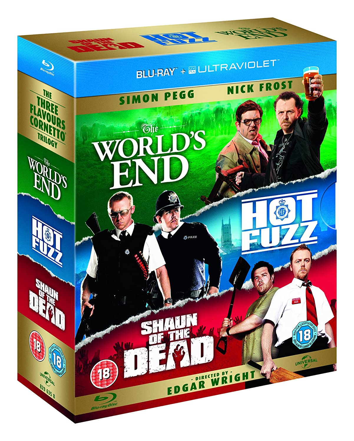 91Weaedj7dL._SL1500_ the world's end hot fuzz shaun of the dead blu ray 2004 region Shaun of the Dead Meme at fashall.co